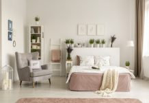 elegancki fotel do sypialni