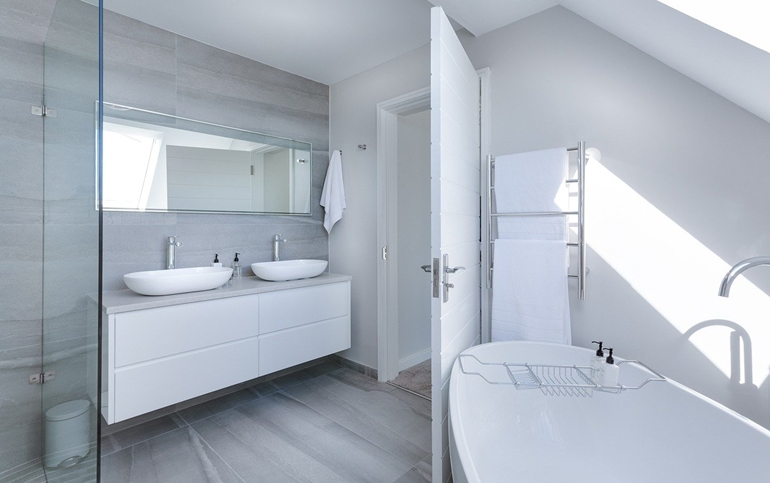 idealnie ciepła łazienka
